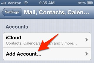 how to create a hotmail account on ipad