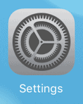 the ipad/iphone settings button