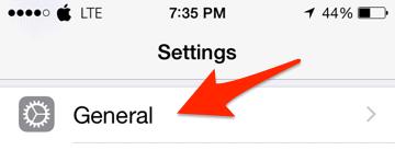Configuración general de iPhone