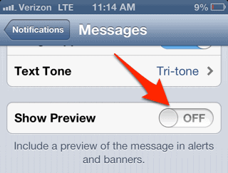 How to Stop Text Messages From Displaying on Your iPhone