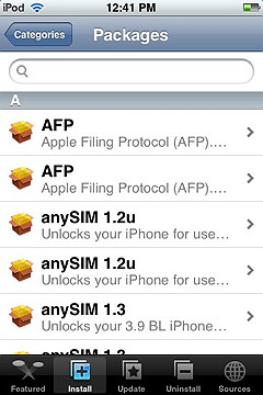 iphone sources screen with iclarified showing