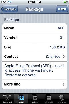 iphone sources screen install an app