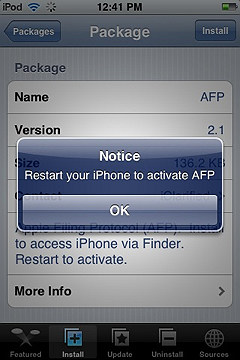 iphone sources screen prompting for a reboot