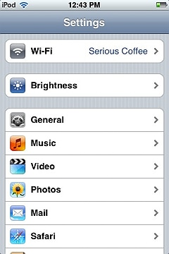 iphone wifi settings screen
