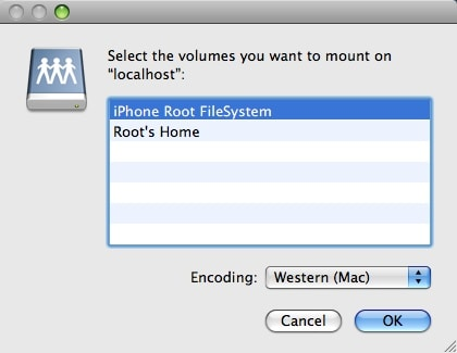 iphone connected to finder