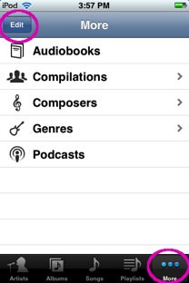 the music icon for the iphone and ipod touch