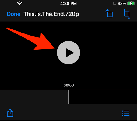 a Play button to stream video from your Mac to your iPhone or iPad