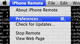 setting up iphone remote