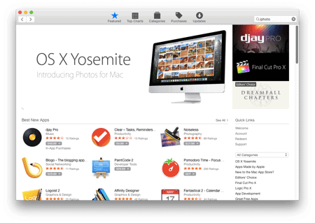 The installed version of iPhoto is not compatible with the installed version of OS X