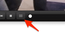 the VLC show Playlist button