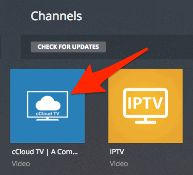 the Plex Channels section