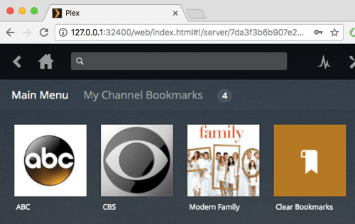 channel bookmarks in CCloud TV