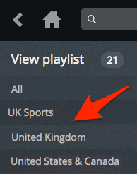 the view playlist column in an older version of Plex