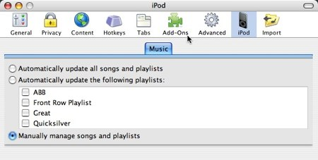 using songbird to manage your ipod