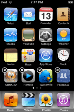 iphone/ipod touch springboard