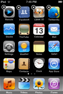 iphone/ipod touch springboard with icons relocated