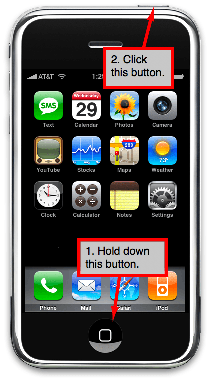 take picture of iphone screen how to take screenshots of your iphone or ipod touch screen 1898
