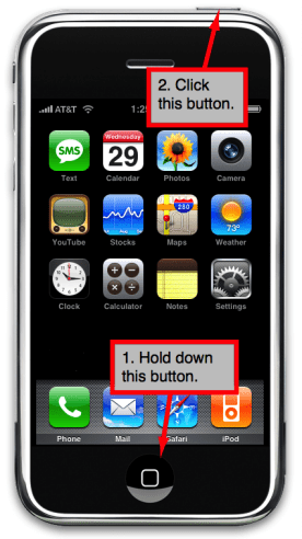 how to take a screenshot using the iphone or ipod touch