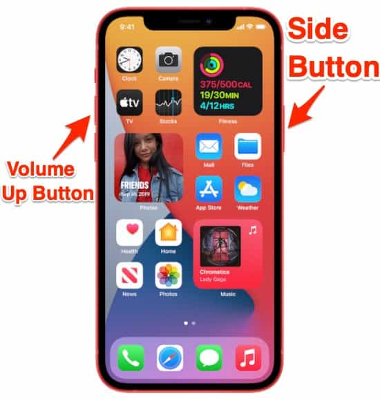 how to take screenshots on an iOS device with Face ID