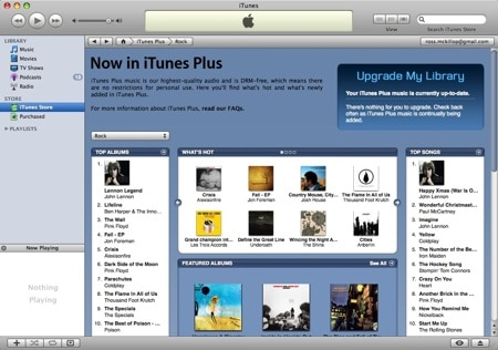 Canadian iTunes Store