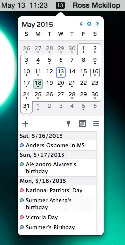 How To Add A Calendar To The Os X Menu Bar