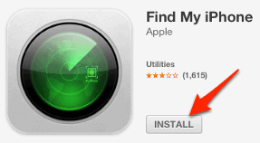 install the Find My iPhone App