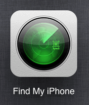 Find My iPhone iCloud Website button