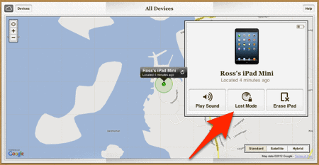 Lost Mode for the Find My iPhone service