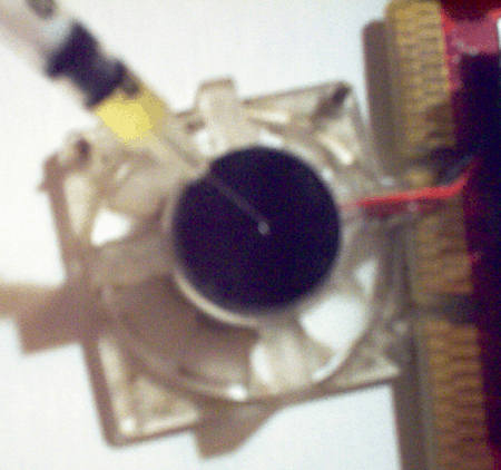 a loud video card with the fan removed