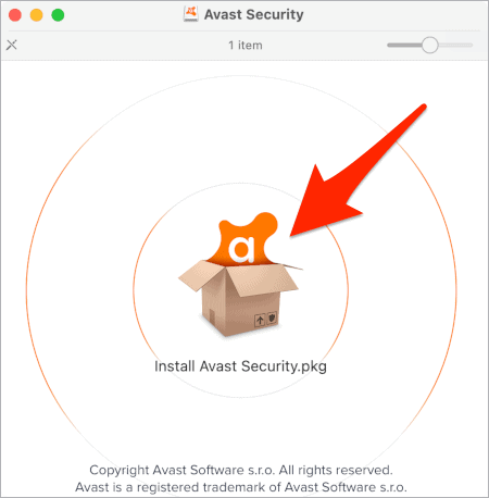 Avast Security for Mac installer file