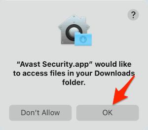 an arrow pointing at an OK button