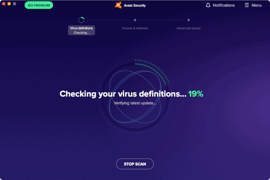 installing latest virus definitions