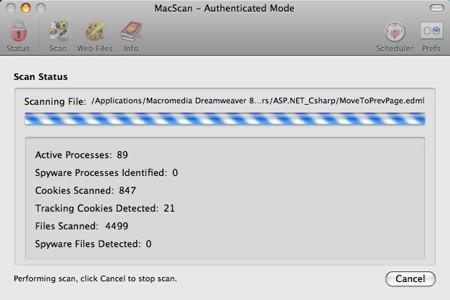 macscan scanning