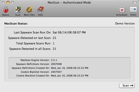 macscan scanning history