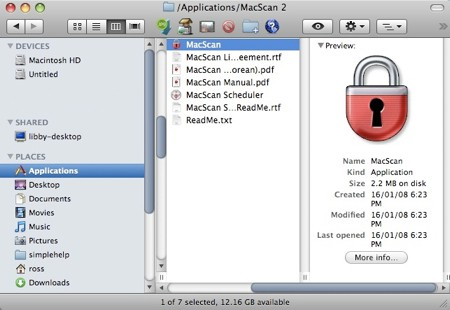 macscan in your applications folder