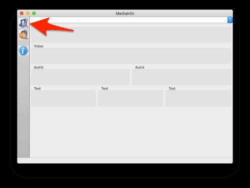 the main GUI for MediaInfo