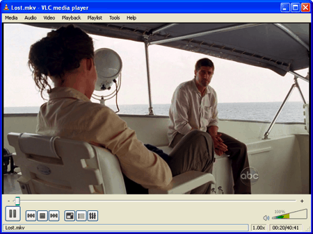 an MKV video playing in VLC