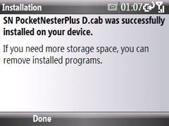 pocket nester plus installed