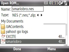 selecting a rom in pocket nester plus