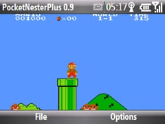 super mario brothers on a windows mobile smartphone