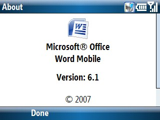 microsoft mobile office 6.1