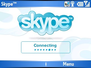 skype on a mobile phone