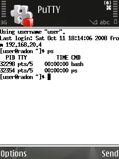 How to install additional fonts for PuTTY on the N95