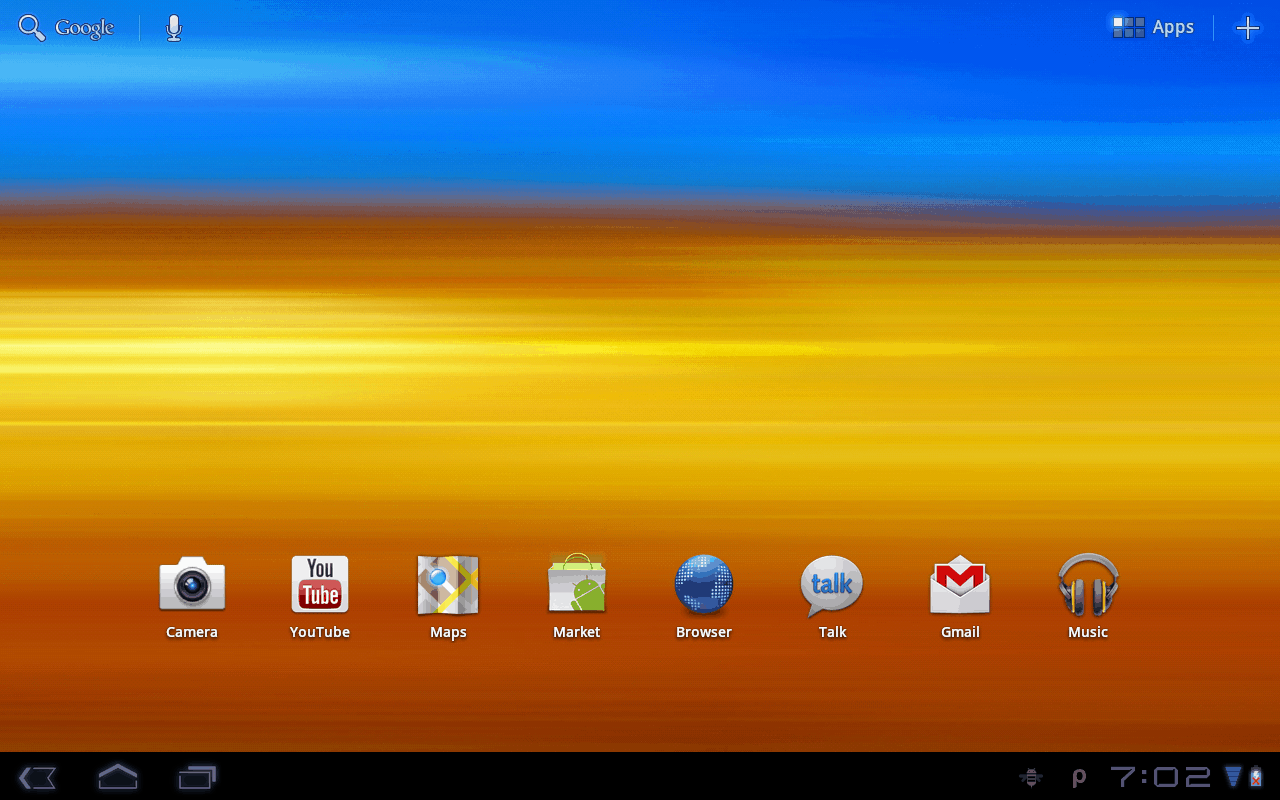 Home Screen Android Tablet