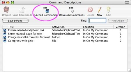 customize the contextual menu items for os x