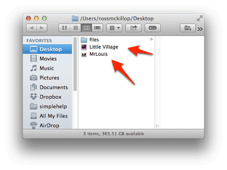 os x desktop without file extensions displayed