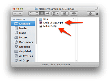 a finder window with file extensions displayed