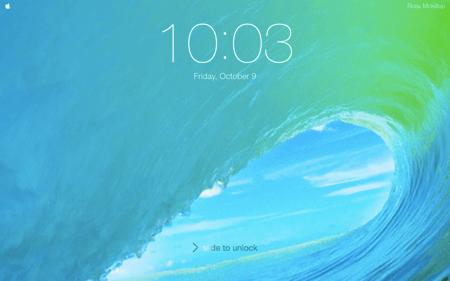 the ios lockscreen screen saver with ios9 wallpaper