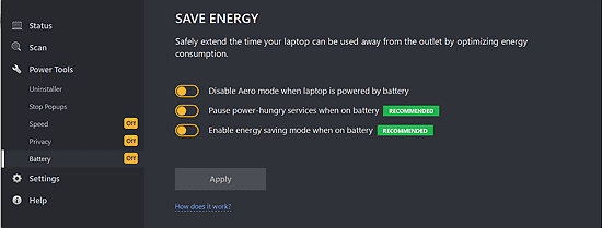 save pc energy