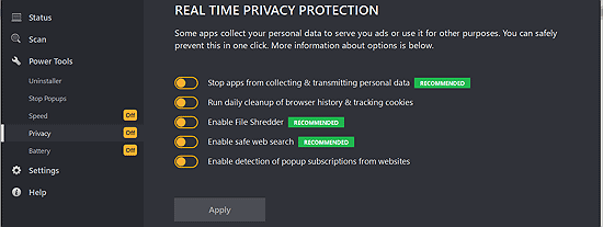 real time privacy